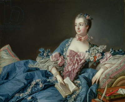 Madame de Pompadour, c.1758 (oil on canvas)