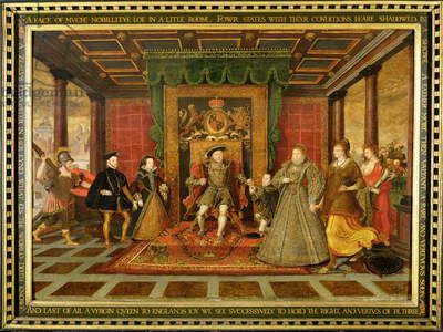The Family of Henry VIII: An Allegory of the Tudor Succession, c.1572 (oil on panel)