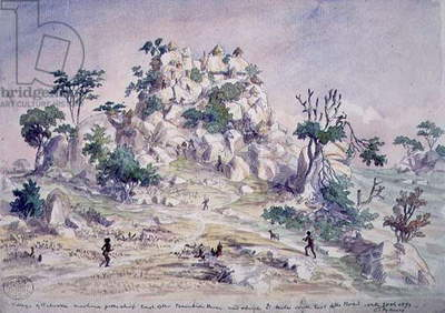 The Village of Tabooka, 1870 (w/c on paper)