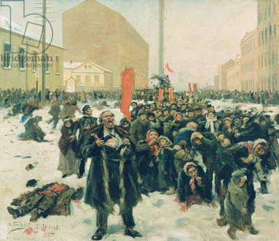 Death in Snow, 1905 (oil on canvas)
