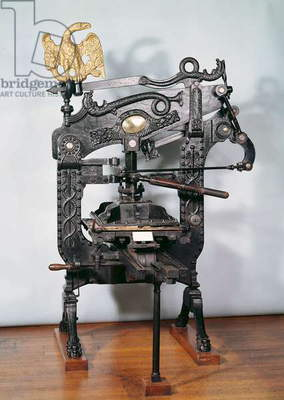 'Columbia' printing press, made by Clymer and Dixon, 1837 (iron) (see also 260944)