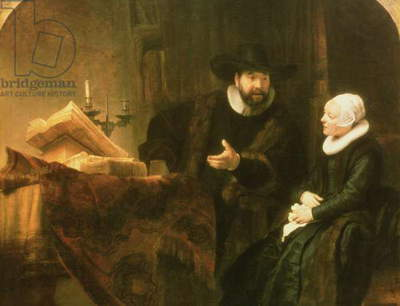 Portrait of Cornelius Anslo and his Wife, 1641 (oil on canvas)