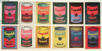 Campbell's Soup Cans, 1965 (silkscreen on canvas)