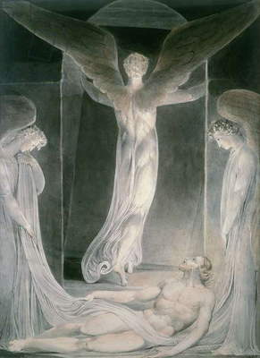 The Resurrection: The Angels rolling away the Stone from the Sepulchre