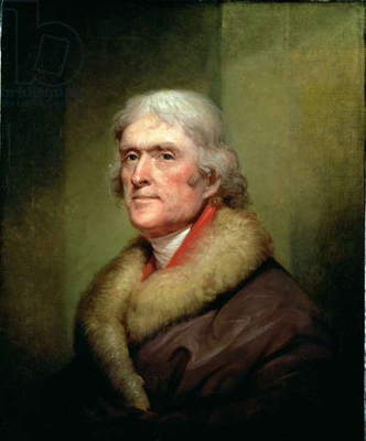 Portrait of Thomas Jefferson, 1805 (oil on canvas)