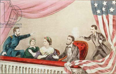 Assassination of Abraham Lincoln (colour litho)
