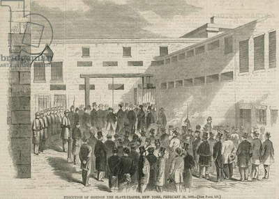 The Execution of Nathaniel Gordon, The Slave Trader, New York, from 'Harper's Weekly', 8th March 1862 (engraving)