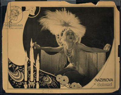 Nazimova in Salome (litho)