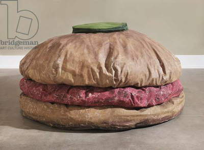 Floor Burger, 1962 (acrylic on canvas filled with foam rubber and cardboard boxes)