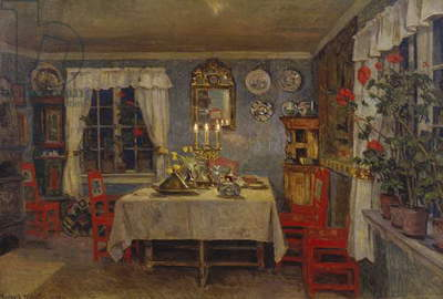 Interior from the artist's living room, 1909 (oil on canvas)