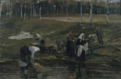Laundry, 1876 (oil on canvas)