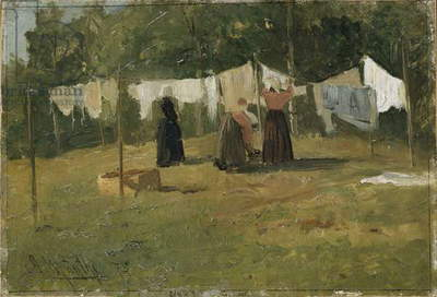 Clothes drying, 1875 (oil on canvas)