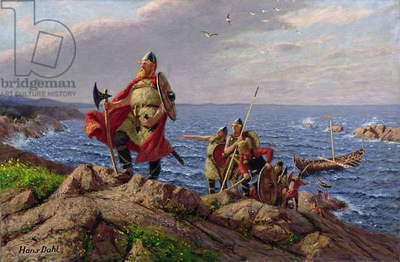 Leif Eriksson Discovers America (oil on canvas)