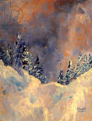 Mist on the Snow Peak, 2009, (acrylic on wood)