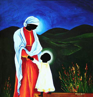 Madonna and child - First steps, 2008 (acrylic on wood)