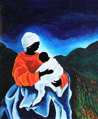 Madonna and child - Lullabye, 2008 (acrylic on wood)