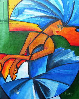 Dance in blue, 2008 (acrylic on canvas)