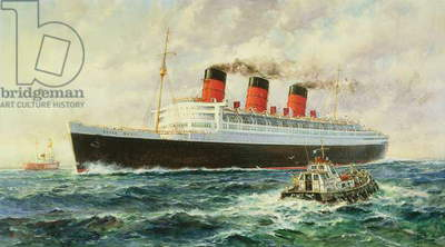 R.M.S. Queen Mary, 1959 (oil on canvas)