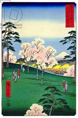 Japan: Mt. Asuka in the Eastern Capital. Image 8 of '36 Views of Mount Fuji. Utagawa Hiroshige (portrait / vertical edition first published 1858)