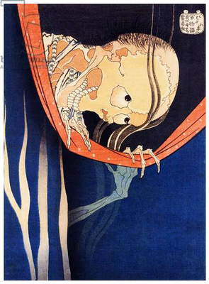 Japan: The ghost of Kohada Koheiji, from the series 'One Hundred Ghost Stories'. Katsushika Hokusai (1760-1849), 1831
