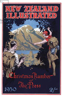 Front cover of 'New Zealand Illustrated', December 1930 (colour litho)