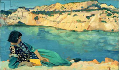The Blue Pool, 1911 (oil on panel)