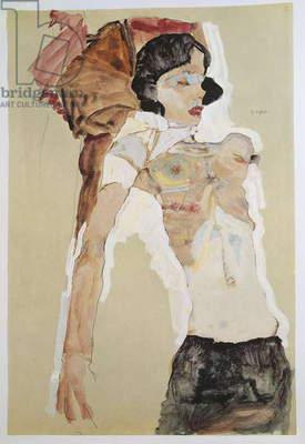 Austria, Vienna, Seminude Female Figure, mixed media,