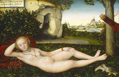 The Nymph of the Spring, after 1537 (oil on panel), 48.4x72.8 cm