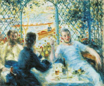 Breakfast by the river, 1880, by Pierre-Auguste Renoir (1841-1919), 55x65 cm.,