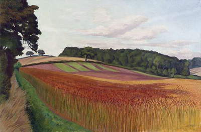 Cornfield at Wiston-by-Nayland, Suffolk, c.1932 (oil on canvas)