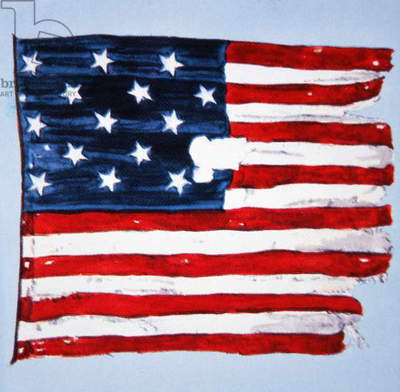 The Original 'Star-Spangled Banner' (colour litho)