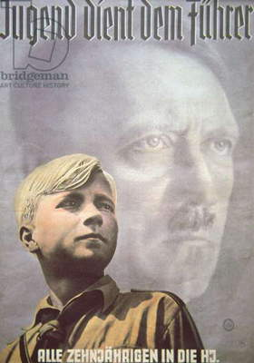Hitler Youth poster, Nazi Germany (colour litho)