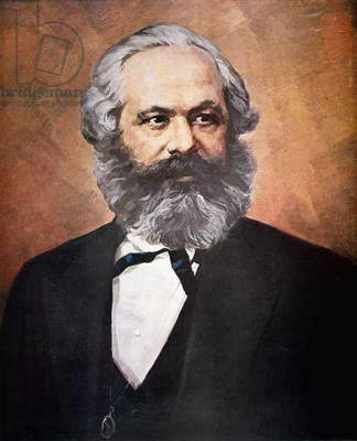 Karl Marx (colour litho)