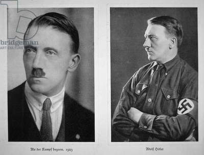 Adolf Hitler, 1923 & 1933 (b/w photo)