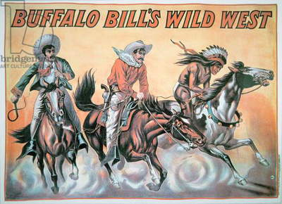 Poster for Buffalo Bill's (1846-1917) Wild West Show, 1898 (colour litho)