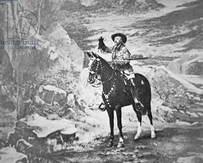 Buffalo Bill Cody (1846-1917) (b/w photo)
