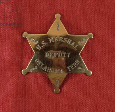 Badge of a US Deputy Marshal of Oklahoma Territory, c.1895 (brass)