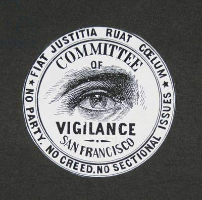 Seal of the San Francisco Vigilance Committee, 1851 (engraving)