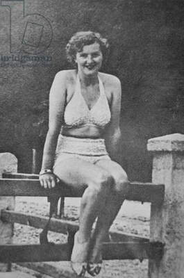 Eva Braun (b/w photo)
