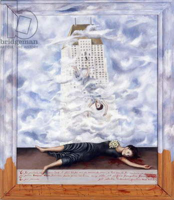El suicidio de Dorothy Hale (The Suicide of Dorothy Hale) 1939  (oil on Masonite with painted frame)