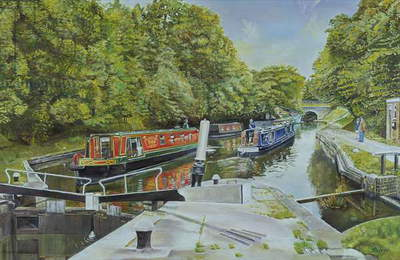 Knowle top lock, 2003 (oil on canvas)