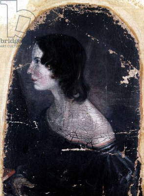 Emily Bronte (1818-1848), English novelist, painting by Patrick Branwell Bronte c. 1833