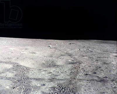 Moon surface: photo taken during Apollo 14 february 6, 1971, photo NASA