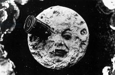 A Trip to the Moon, 1902 (b/w photo)