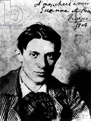 Spanish painter Pablo Picasso (1881-1973) in 1904, he is 23 years old