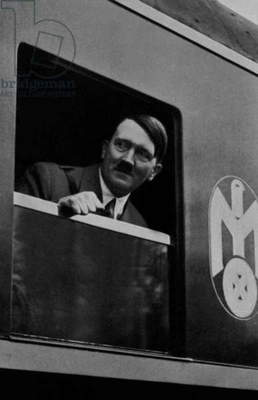 Adolf Hitler taking the train to travel, 30's