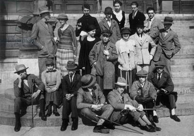 Dadaists constructivists in Weimar (Germany) September 1922 (b/w photo)