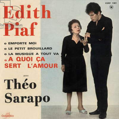 Extended play vinyl record sleeve of Edith Piaf and Theo Sarapo
