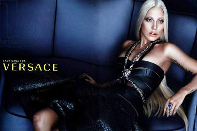 Lady Gaga for Versace Fashion Advertisement (colout litho)