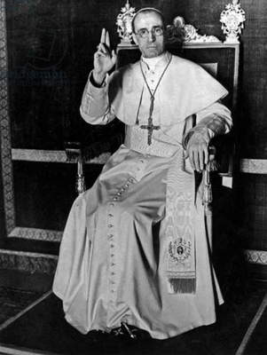 Pope Pius XII (Eugenio Pacelli, pope in 1939-1958) first official picture in 1939